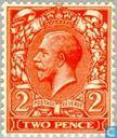 Postage Stamps - Great Britain [GBR] - George V-watermark GvR single