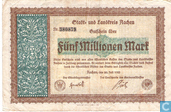 Billets de banque - Aachen - Stadt und Landkreis - Aachen 5 Miljoen Mark 1923