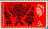 Postage Stamps - Great Britain [GBR] - Commonwealth Arts Festival