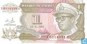 Billets de banque - Banque du Zaïre - 1 Nouveau Zaïre likuta