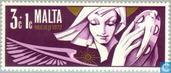 Postage Stamps - Malta - Angels
