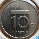 Coins - the Netherlands - Netherlands 10 cents 1987