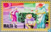 Briefmarken - Malta - Wirtschaftliche Entwicklung