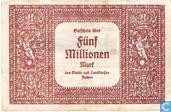 Banknoten  - Aachen - Stadt und Landkreis - Aachen 5 Miljoen Mark 1923