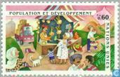 Timbres-poste - Nations unies - Genève - Conférence sur la population et le développement