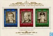 Postzegels - Liechtenstein - Vorst Franz Josef II - Regeringsjubileum