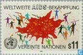 Timbres-poste - Nations unies - Vienne - Lutte contre le SIDA