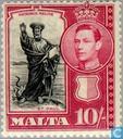 Postzegels - Malta - Koning George VI