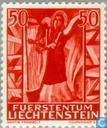Postage Stamps - Liechtenstein - Angels