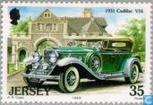 Postzegels - Jersey - Klassieke auto's