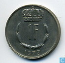 Coins - Luxembourg - Luxembourg 1 franc 1972
