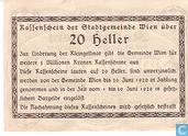 Bankbiljetten - Wien - Stadtgemeinde - Wien 20 Heller 1920