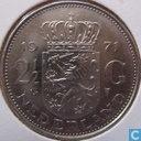 Netherlands 2½ gulden 1971