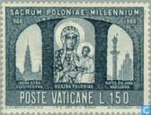 Timbres-poste - Vatican - Christianisation Pologne 1000 années