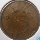 Coins - the Netherlands - Netherlands 5 cents 1965