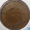 Monnaies - Pays-Bas - Pays-Bas 5 cents 1965