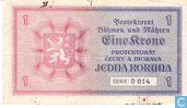 Bankbiljetten - Protektorat Böhmen und Mähren - Bohemen Moravië 1 Krone