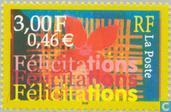 Postage Stamps - France [FRA] - Hearty Congratulations