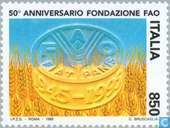 Postage Stamps - Italy [ITA] - FAO 50 years
