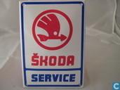 Plaques émaillées - Logo : Skoda - Emaille Reklamebord : Skoda