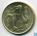 Monnaies - Chypre - Chypre 2 cents 1996