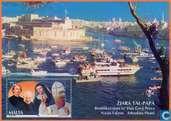 Postzegels - Malta - Pausbezoek