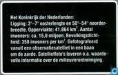 Telefoonkaarten - PTT Telecom - Satellietfoto Nederland