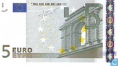 Banknotes - Eurozone - 2002 Dated 'Signature J.C. Trichet' Issue - Eurozone 5 Euro X-R-T
