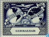 Postage Stamps - Gibraltar - 75 years of UPU