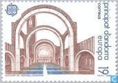 Postzegels - Andorra - Spaans - Europa – Moderne architectuur