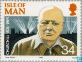 Postzegels - Man - Churchill, Sir Winston 1874-1965