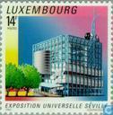 Postzegels - Luxemburg - Wereldtentoonstelling- Sevilla