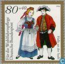 Timbres-poste - Allemagne, République fédérale [DEU] - Costumes folkloriques