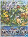 Postage Stamps - San Marino - European nature conservation year
