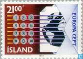 Briefmarken - Island - Europa – Transport und Kommunikation