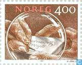 Postage Stamps - Norway - 400 Brown
