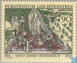 Postzegels - Liechtenstein - Oostenrijk 1000 jaar