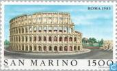 Postage Stamps - San Marino - Famous world-Rome