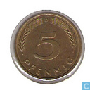 Coins - Germany - Germany 5 pfennig 1980 (D)