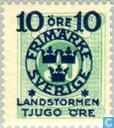 Timbres-poste - Suède [SWE] - 10 + TJUGO # 30 vert