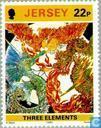 Briefmarken - Jersey - Batik