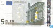 Billets de banque - Duisenberg, imprimé par la Fabrica Nacional de Moneda y Timbre (Espagne - Madrid) pour l'Espagne Spanje. - € 5 MVD