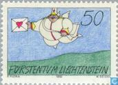 Postzegels - Liechtenstein - Postillion d'Amour