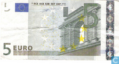 Billets de banque - Zone Euro - 2002 'Signature W.F. Duisenberg' Issue - Zone Euro 5 Euro U-L-Du
