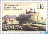 Postage Stamps - Malta - Gozo Cathedral 300 years