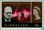 Postzegels - Gibraltar - Sir Winston Churchill