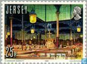 Postage Stamps - Jersey - Gaslight 150 years