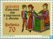 Postage Stamps - Switzerland [CHE] - Book Printing in Geneva 500 years