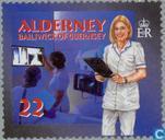 Postage Stamps - Alderney - Social services