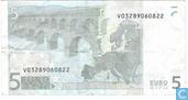 Banknotes - Duisenberg, printed at Fabrica Nacional de Moneda y Timbre (Spain - Madrid) in order of Spanje. - 5 euros MVD
